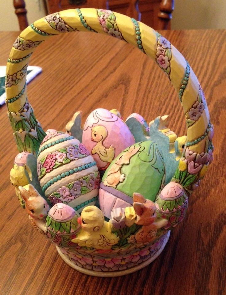 32 best jim shore easter images on pinterest easter eggs egg 2015 tisket a tasket easter basket with 3 eggs 4053697 negle Choice Image