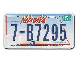 US-Kennzeichen Nebraska - original - Hausnummern und Schilder online kaufen
