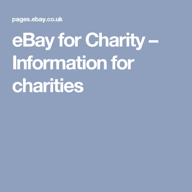 eBay for Charity – Information for charities