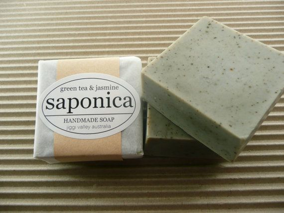 Handmade Natural Green Tea and Jasmine Soap by by saponica on Etsy, $5.50