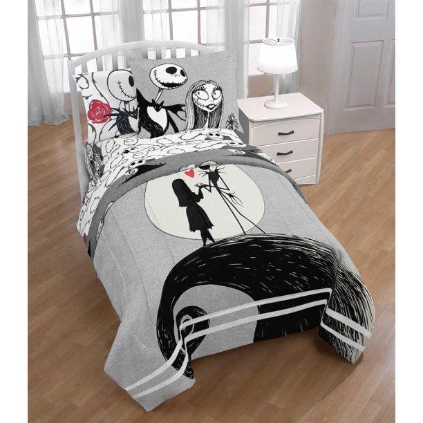 Nightmare Before Christmas Jack Sally Bed In A Bag Bedding Set W Reversible Comforter Walmart Com In 2021 Nightmare Before Christmas Bedding Christmas Bedding Bedding Set