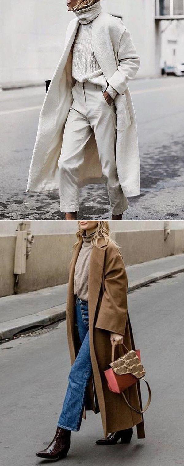 2019 Womens Winter Long Coats Outfits