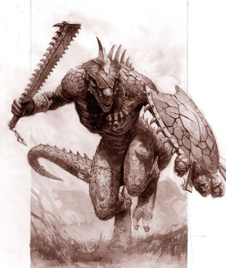 Barbarian Lizard/Dragonborn