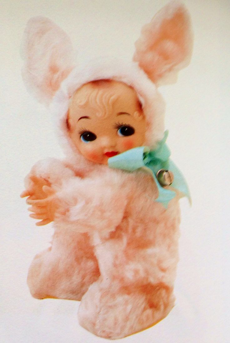 vintage kitsch bunny rabbit toy Japan