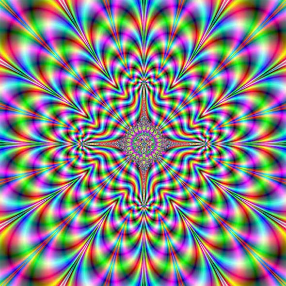 ♥ fractal - illusion - It's vibrating with movement!