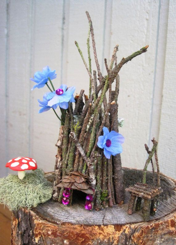 Fairy house -- a different, naturalistic approach. I'm glad this is the one Braxtin likes.  lol   We may be able to pull this one off.