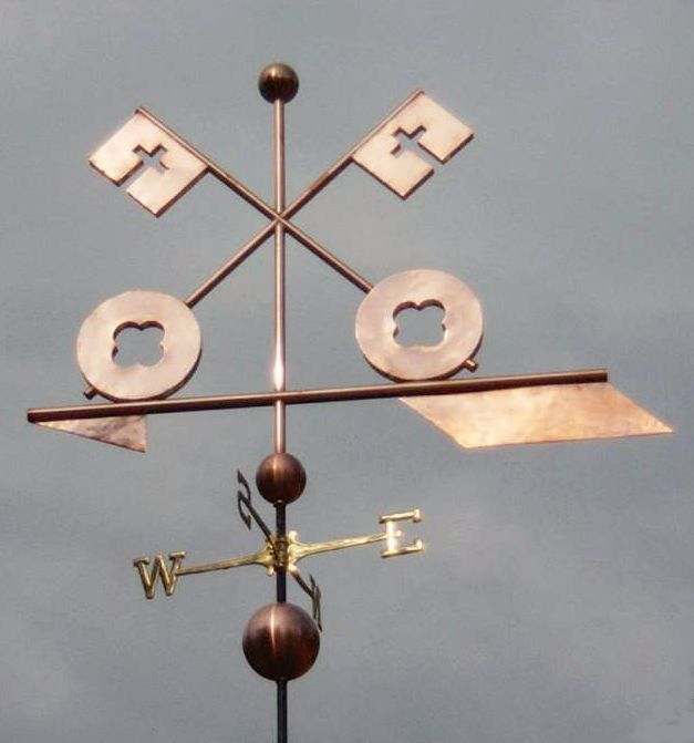 church key weather vane by west coast - Weather Vanes