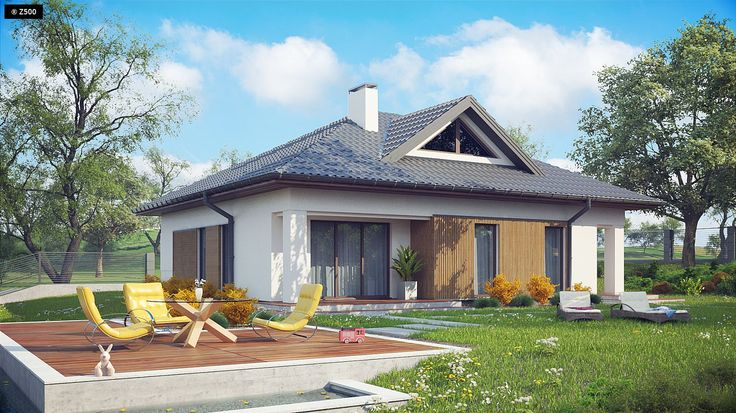 Z230 to praktyczny i bardzo przestrony dom z możliwością zaadoptowania poddasz. Bryła ujmuje swą dokładnością i dbałością o detale.