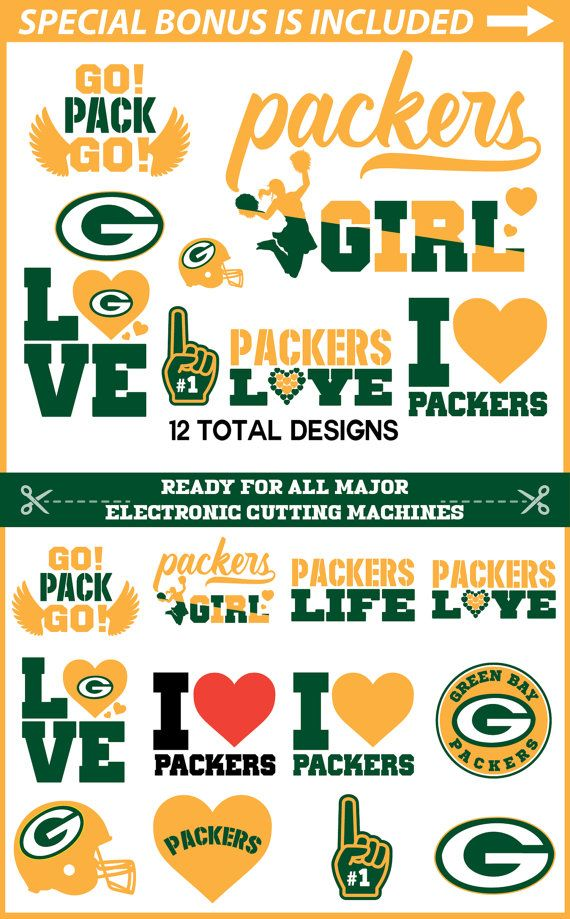 Packers Svg for Cricut Green Bay Packers  Girl Svg Packers Life svg Green Bay Packers Monogram svg Green Bay Packers Girl Packers Love Life