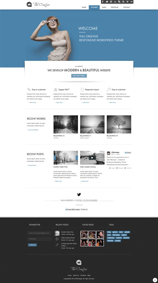 THU - Responsive Wordpress Theme on Web Design Served