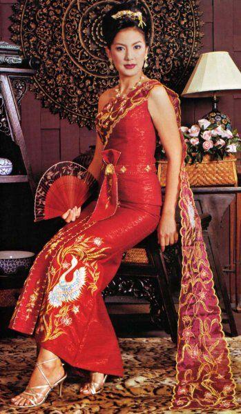 Thai wedding dress thai style wedding pinterest for Thai style wedding dress