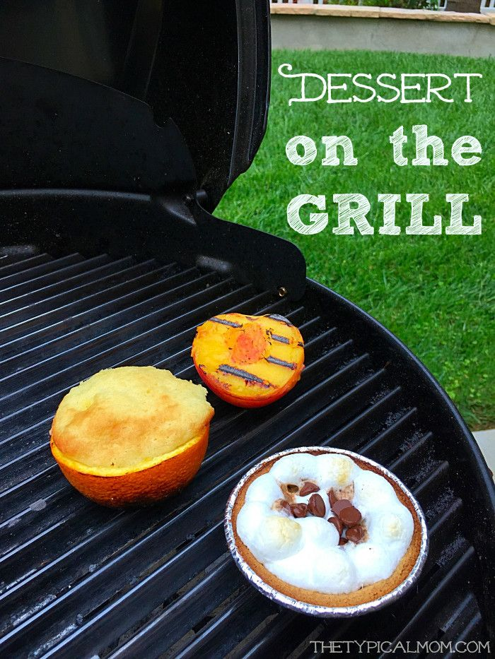 BBQ recipes for desserts on the grill!! Easy recipes to do to cook a yummy dessert on your barbeque.