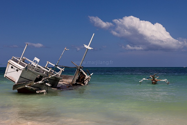 Ship wreck, Sulawesi by Marji Lang, via Flickr