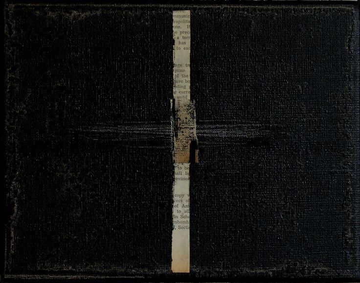 Znak/ Sign, oil, collage on canvas, 2016, 20x26 cm. M. Daniec