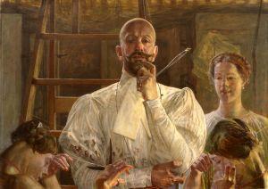 """Jacek Malczewski """"Pożegnanie z pracownią"""" (1913), Muzeum Śląskie w Katowicach"""