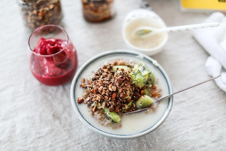 Recept gröt med rågflingor och granola