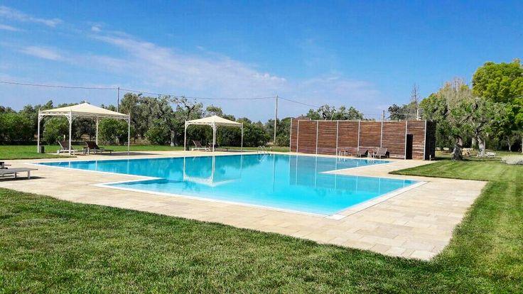 Our pool is open!  #weareinpuglia #masseriacordadilana #holidays #relax #resortpuglia #hotel #masseriesalento www.masseriacordadilana.it