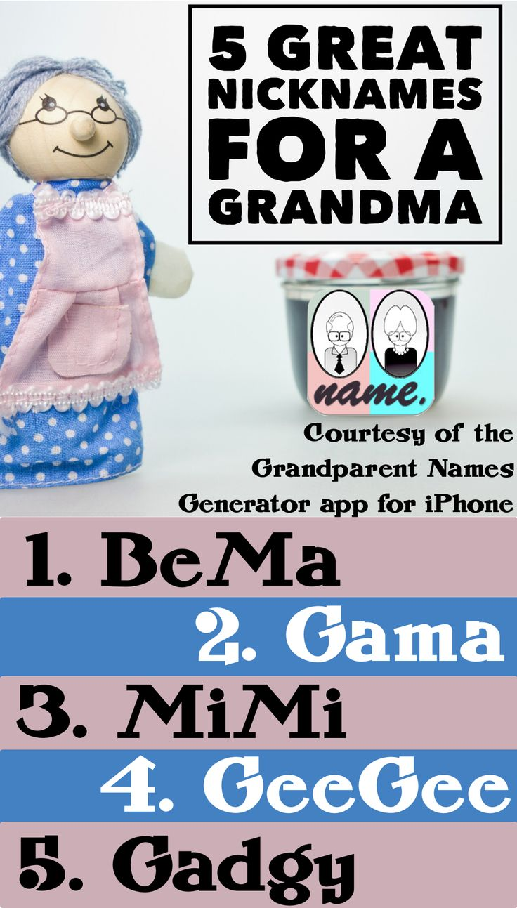 70 Cute Grandma Names Being a parent is a thing of joy, then advancing to become a grandparent is filled with so much joy and happiness, its the dream of every parent to .