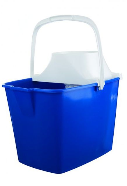 Plastic Cone mop blue Bucket: Platic cone pail with cone - 14 liters