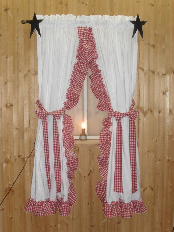 Ruffled curtains! I love these