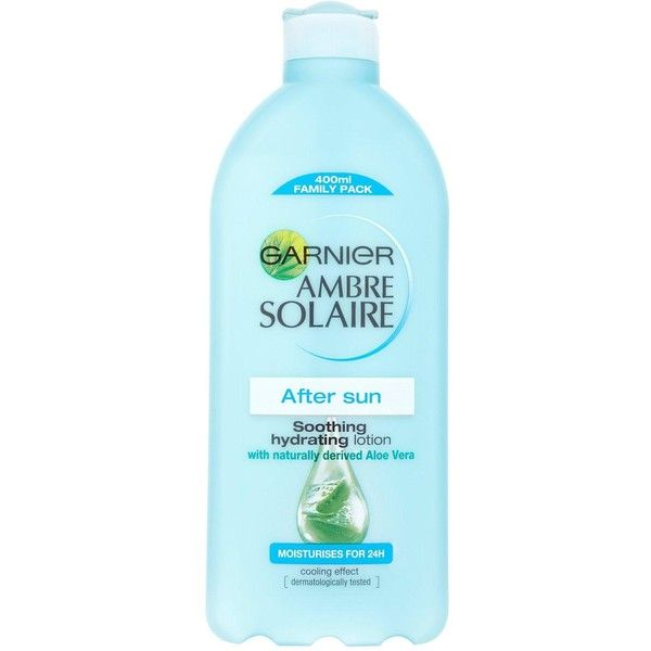 Ambre Solaire Garnier Ambre Solaire After Sun Soothing Lotion 400Ml ($17) ❤ liked on Polyvore featuring beauty products, bath & body products and sun care