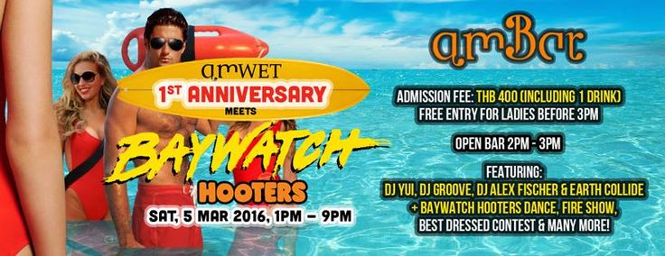 2016.03 AmWET 1st ANNIVERSARY Meets Baywatch Hooters @Ambar - Bangkok SM Hub