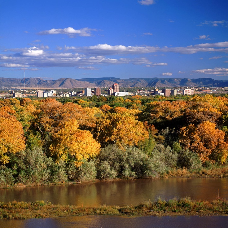 Beautiful fall colors happen during the balloon fiesta in October!Albuquerque Nm, Favorite Places, Travel Dreams, Fall Colors, Albuquerque New Mexico, Albuquerque Colors, Rivers T-Shirt, The Cities, Rio Grand