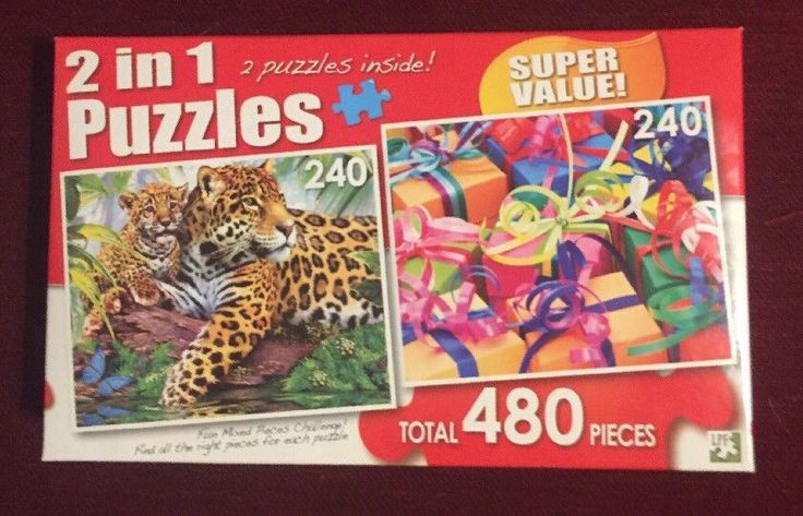 New !  480 piece 2 in 1 Puzzle: Jaguars & Colorful Gifts  | eBay