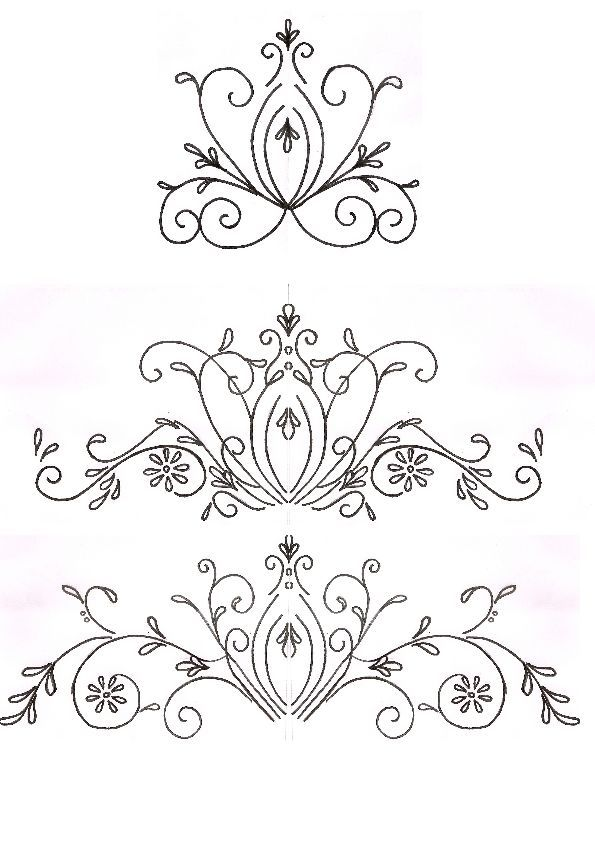 Cake Decorating Flower Templates : Cake Central s karennayak swirl template Crafts and ...