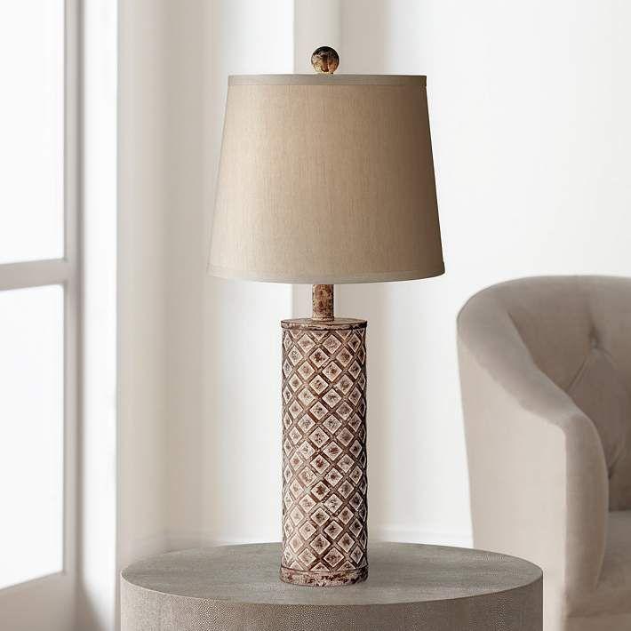 Gisele Gold Wash Lattice Column Table Lamp 6v588 Lamps Plus Table Lamp Gold Table Lamp Table Lamp Sets