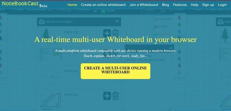 Notebookcast. un tableau blanc en ligne #collaboratif et gratuit