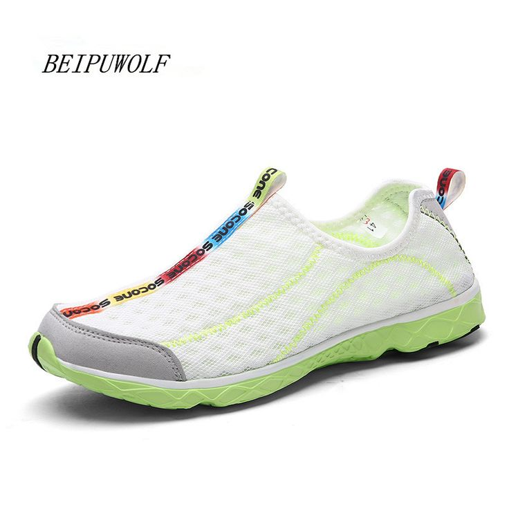 2016 Plus Size 36-47 Lovers Breathable Running Sneakers Comfortable Men Super Light Weight Sports Shoes Women Beach Water Shoes