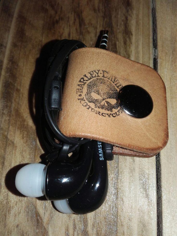 Harley davidson phone holder leather handmade
