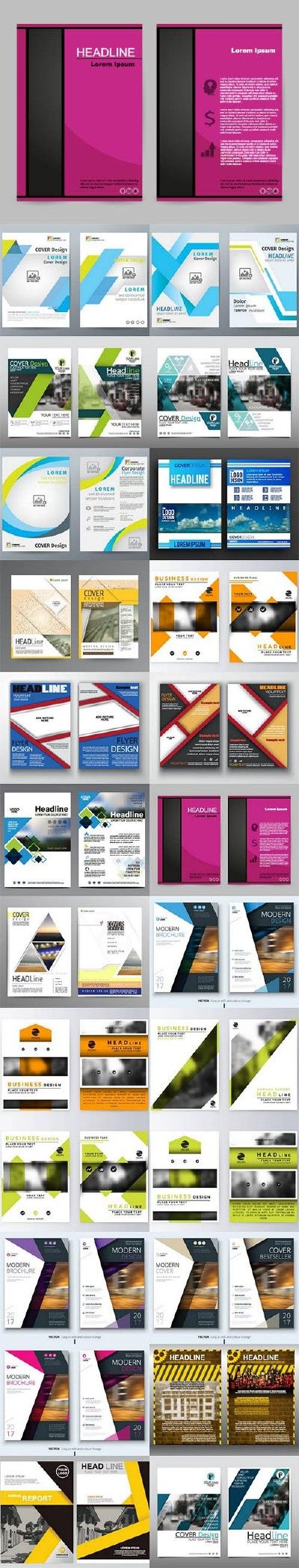 Brochure flyer template design 18