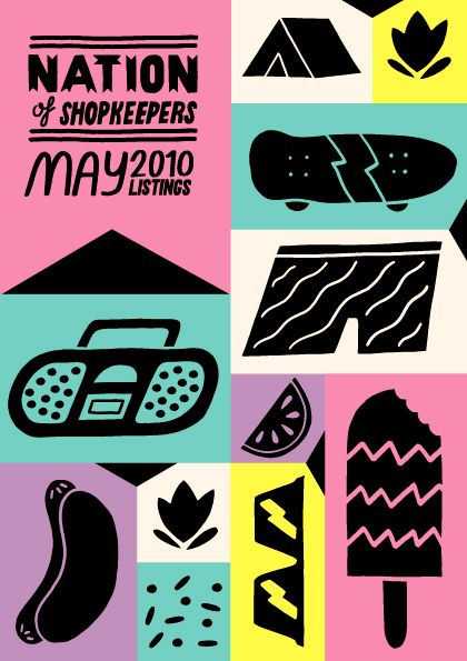 Show flyer by Kate Prior. I like the use of flat colours and bold shapes.