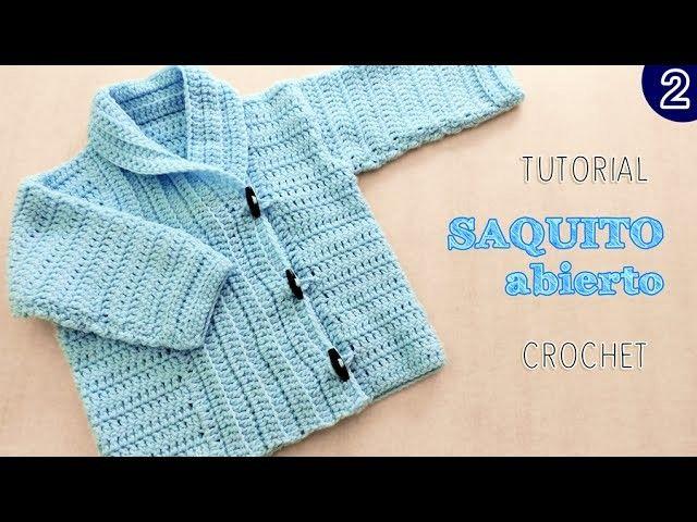 DIY Abrigo saquito UNISEX tejido a Crochet - VARIOS TALLES | Parte 2 de 2