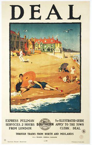 Deal beach railway poster