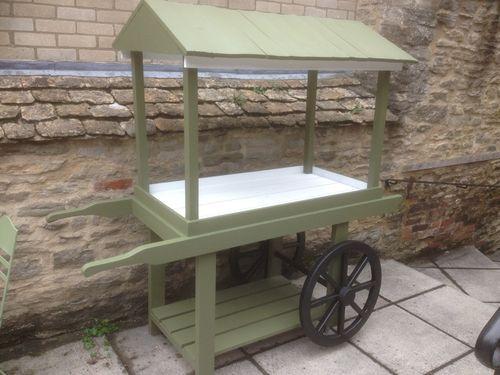 florists etc wooden flower cart market barrow hand cart rustic