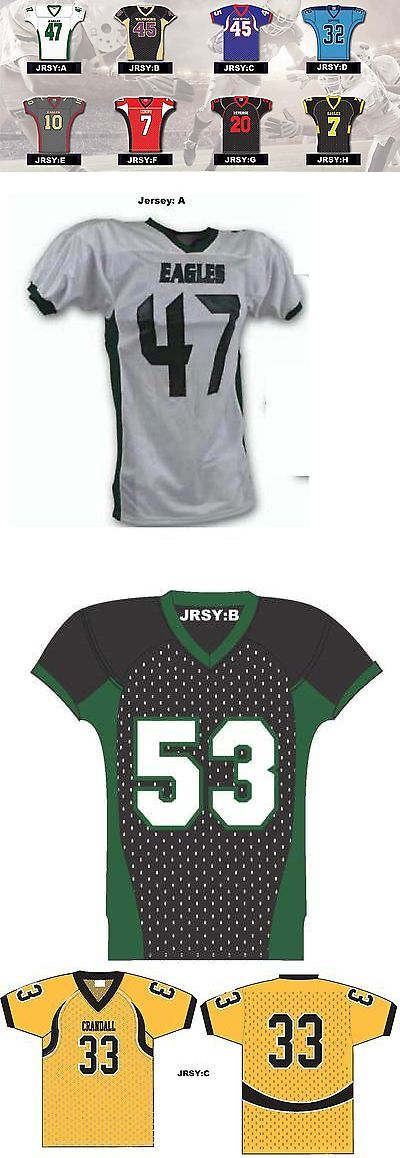 Youth 159111: Custom Twill Youth Football Jerseys Various Styles You Choose Colors -> BUY IT NOW ONLY: $36 on eBay!