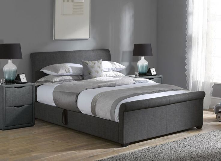 Wilson Grey Fabric Ottoman Bed Frame. Best 25  Ottoman bed ideas on Pinterest   Guest bed covers