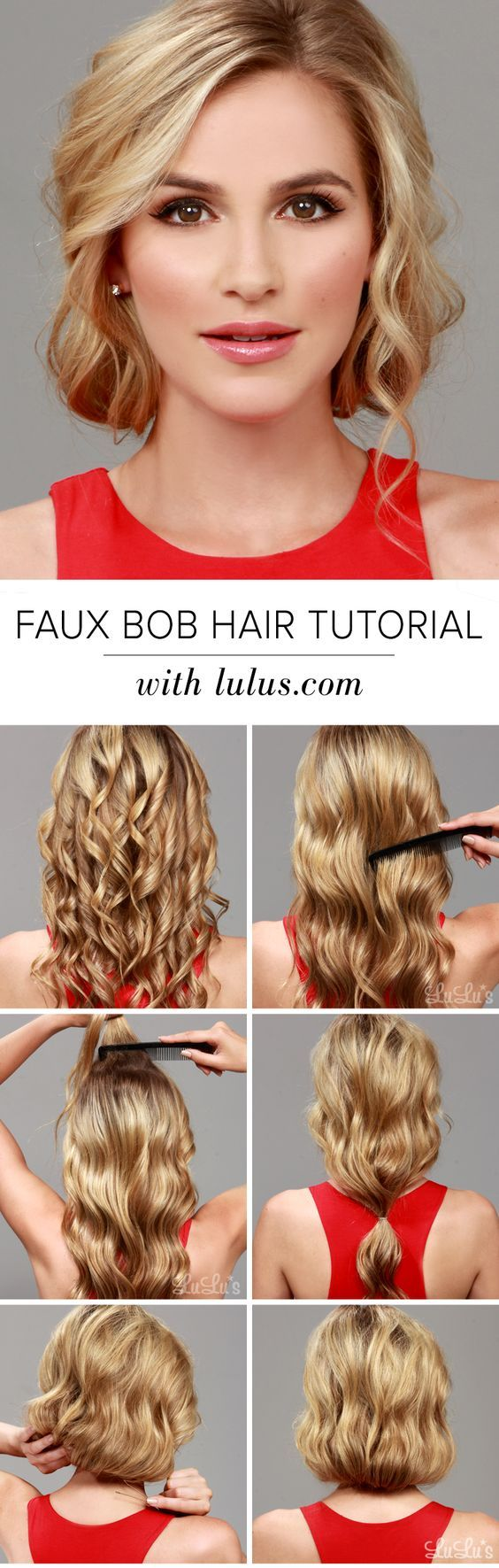 Fabulous 17 Best Ideas About Faux Bob Tutorial On Pinterest 1920S Hair Hairstyles For Women Draintrainus