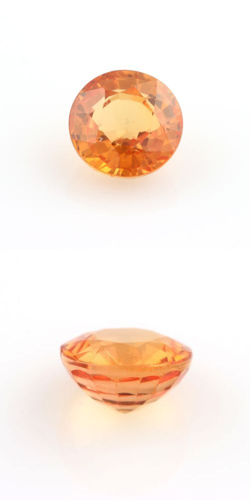Natural Sapphires 4644: 1.54Ct Loose Sapphire Gemstone - Round Genuine Orange BUY IT NOW ONLY: $153.99