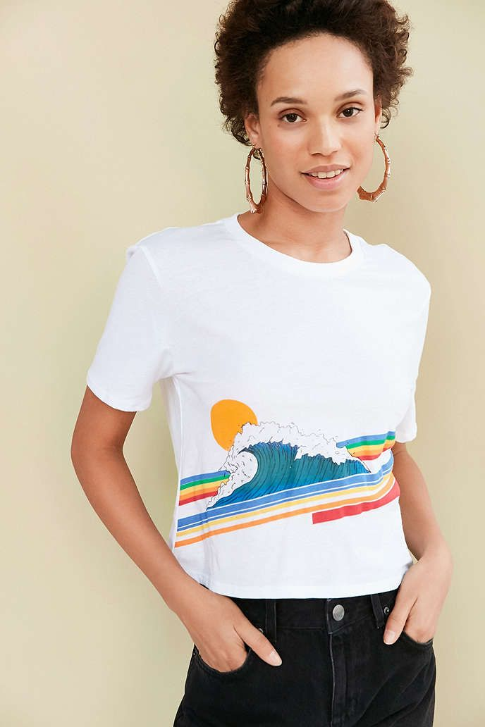 Project Social T Retro Wave Tee, size medium, urban outfitters