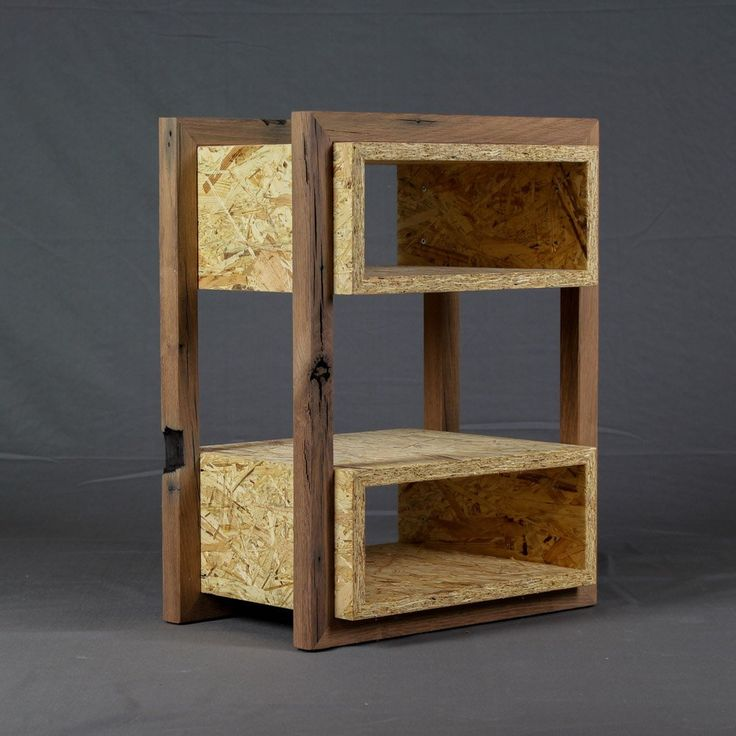 Occasional furniture from OSB and oak-old wood | Bedside table