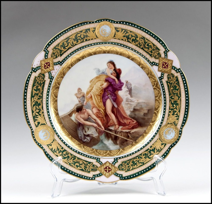 Rudolstadt Hand Painted Cabinet Plate Royal Vienna Style & 100+ best Porcelain Plate Passion images on Pinterest | Decorative ...