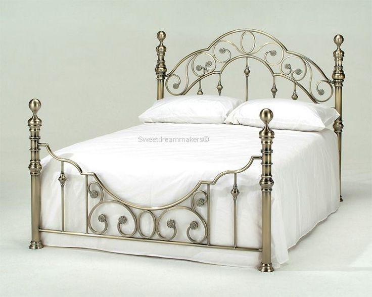 beds mattresses florence antique brass bed frame - Brass Beds