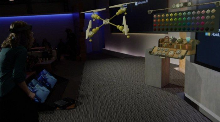 Microsoft presentó unas gafas holográficas llamadas Hololens