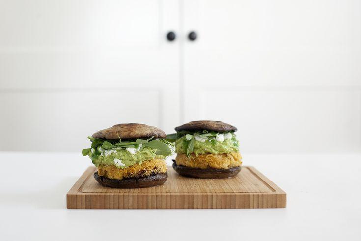 Kenko Kitchen: Sweet Potato Burgers with Edamame Guacamole