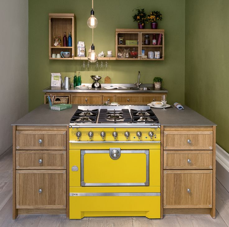Kitchen Sourcebook Loves This Island With A Difference. The Yellow Range  Cooker Makes A Bold