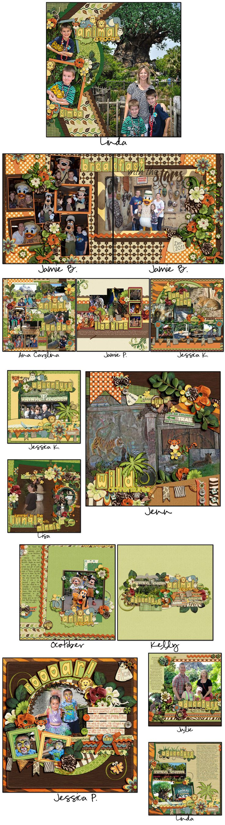 Jungle scrapbook ideas - Ctlosjunglejam Jungle Jamdisney Scrapbookdigital Scrapbookscrapbooking Ideasscrapbook